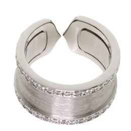 Cartier Double C de Cartier 18K White Gold Diamond Ring Size 48 313530