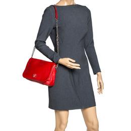 Carolina Herrera Orange Leather New Baltazar Flap Shoulder Bag 312665