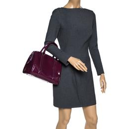 Dior Purple Monogram Patent Leather Boston Bag 312848
