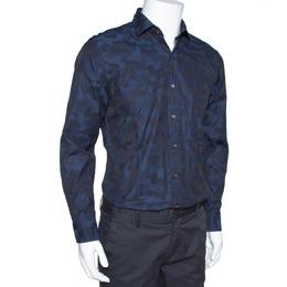Ralph Lauren Navy Blue Camo Pattern Cotton Long Sleeve Shirt M 312692