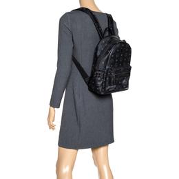 MCM Black Visetos Coated Canvas Bebe Boo Backpack 313246