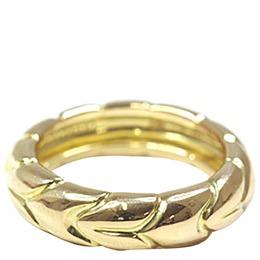 Bvlgari Spiga Wedding 18K Yellow Gold Ring Size 52 313120