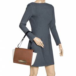 Carolina Herrera Bicolor Leather Flap Shoulder Bag Ch Carolina Herrera 315339