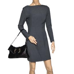 Bvlgari Black Leather Small Leoni Shoulder Bag 313908