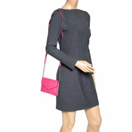 Kate Spade Pink Leather Envelope Flap Shoulder Bag 313264