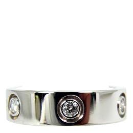 Cartier Love 6 Diamond 18K White Gold Ring Size 56 313135
