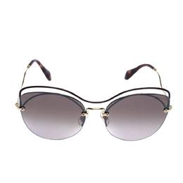 Miu Miu Burgundy & Gold Tone/ Brown Gradient SMU50T Cat Eye Sunglasses 312841