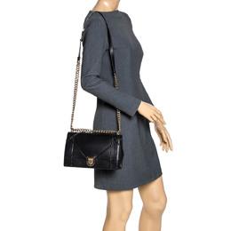 Dior Black Leather Medium Diorama Flap Shoulder Bag 312890