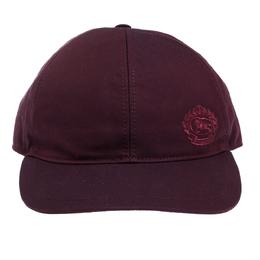 Burberry Burgundy Cotton Boysenberry Crest Cap M/L 308013