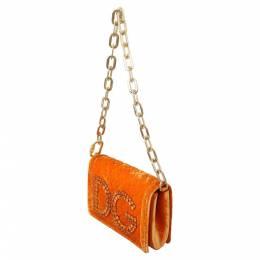 Dolce&Gabbana Orange DG Girls Chain Shoulder Bag 310026