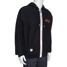 Heron Preston Black Knit Handle Zip Hoodie S 310365