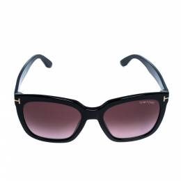 Tom Ford Black/ Bordeaux Gradient FT0502/S Amarra Wayfarer Sunglasses 310864
