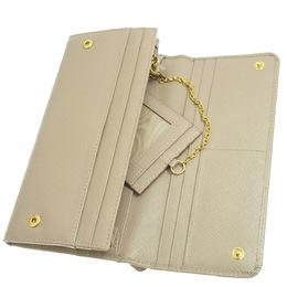 Prada Brown Saffiano Leather Long Wallet 311233