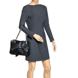 Carolina Herrera Black Leather Audrey Shoulder Bag 310661