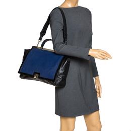 Furla Black/Blue Leather Cortina Top Handle Bag 310784