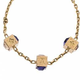 Louis Vuitton Gamble Crystal Gold Tone Bracelet 309746
