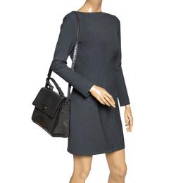 Kate Spade Grey Croc Embossed Patent Leather Knightsbridge Doris Top Handle Bag 309005