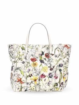 Gucci Pre-Owned сумка-тоут с цветочным принтом 0FGUTO030