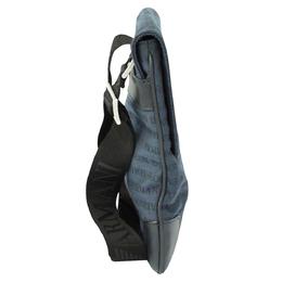 Emporio Armani Blue/Black Leather Logo Messenger Bag 308227