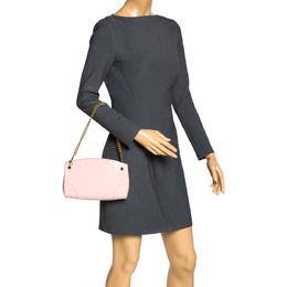 Louis Vuitton Rose Ballerine Monogram Vernis Santa Monica Clutch Bag 347374
