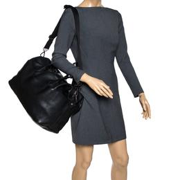 Longchamp Black Grained Leather Ulysse Duffel Bag 311996