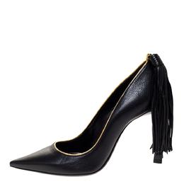 Lanvin Black Leather Tassel Embellished Pumps Size 36 309782