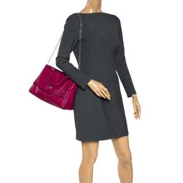 Carolina Herrera Magenta Leather Minuetto Flap Top Handle Bag Ch Carolina Herrera 308791