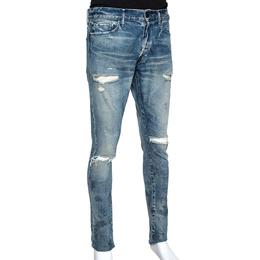 John Elliott Blue Distressed Denim The Cast 2 Slim Fit Jeans M 306950