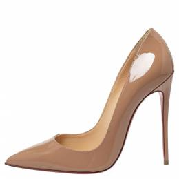 Christian Louboutin Beige Patent Leather So Kate Pumps 39 360922