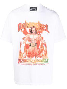 Domrebel футболка с короткими рукавами и принтом WRESTLER