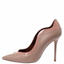 Malone Souliers Beige Leather Penelope Pointed Toe Pumps Size 39.5 304225