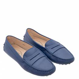 Tod's Blue Leather City Loafers 302808