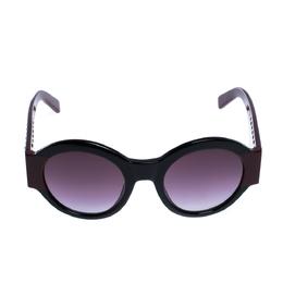 Tod's Burgundy/Black Gradient TO 212 Round Sunglasses 306741