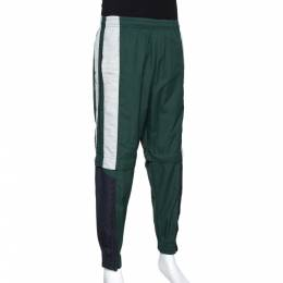 Vetements Green & Black Convertible Zip Off Track Pants XS 306836