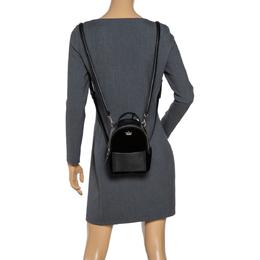 Kate Spade Black Velvet and Leather Mini Watson Lane Merry Backpack 306225