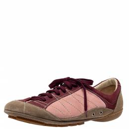 Dior Multicolor Suede And Nubuck Low Top Sneakers Size 39 306577