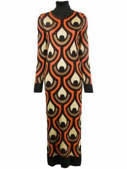 Paco Rabanne трикотажное платье с абстрактным принтом 20AMR0244ML0068