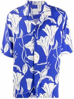 Paul Smith рубашка Floral Cutout с короткими рукавами M1R028UE01139