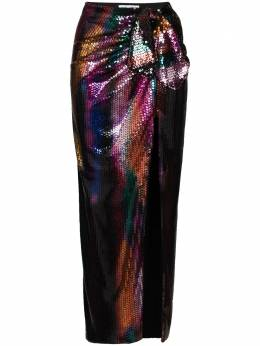 The Attico юбка миди с пайетками 202WCS04P035