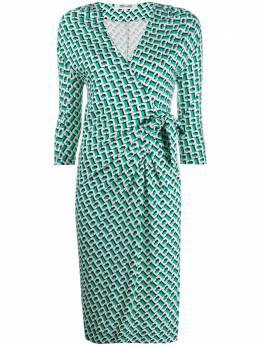 Dvf Diane Von Furstenberg платье с запахом и принтом 15040DVFISADORA
