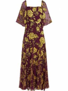 Alice + Olivia платье макси Clarine с цветочным принтом CC006B06506
