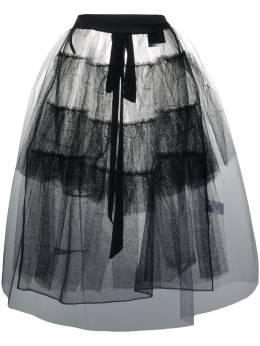Simone Rocha прозрачная юбка с оборками 30050035NET