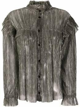 Isabel Marant Etoile прозрачная блузка с эффектом металлик HT187120A053E