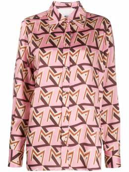 MSGM атласная рубашка с принтом 2941MDE17C207696