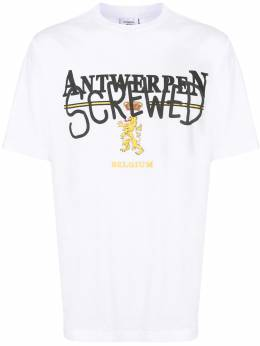 Vetements футболка с принтом Antwerpen UAH21TR5021600SINGLEJERSEY