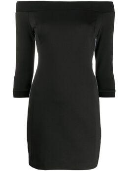 Calvin Klein Jeans платье мини из джерси с открытыми плечами J20J214243