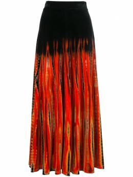 Proenza Schouler бархатная юбка с принтом тай-дай R2035019JYP43
