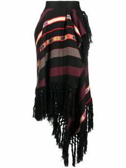 Etro полосатая юбка с запахом 188960563