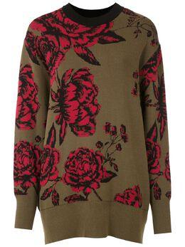 Osklen жаккардовый свитер с цветочным узором 60632