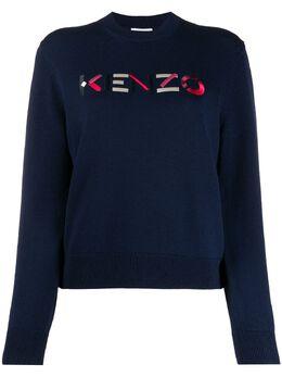 Kenzo джемпер с вышитым логотипом FA62PU5413LA
